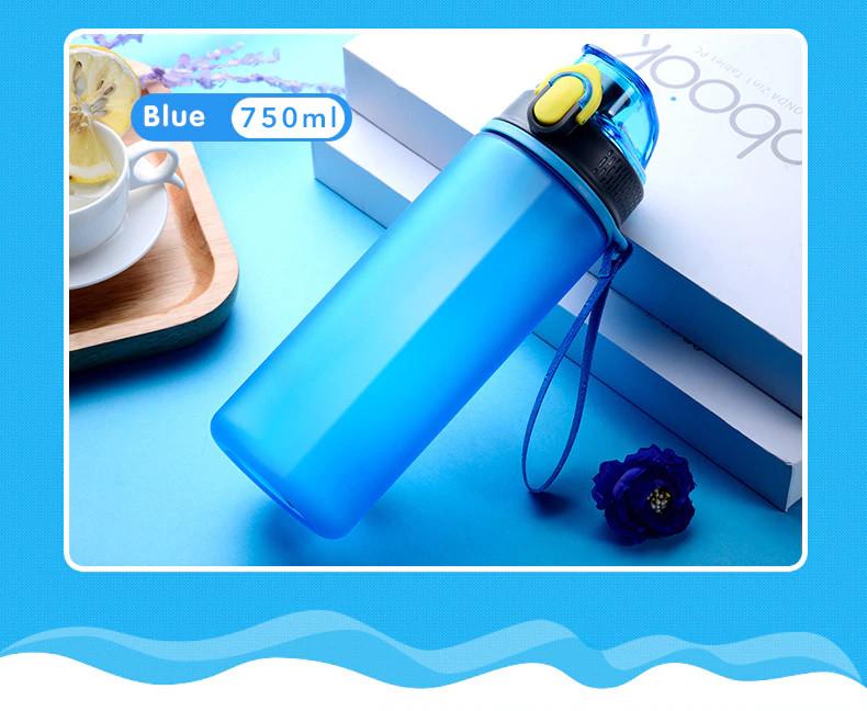 Пляшка питна для води 750 мл. Підійде для занять фітнесом і спортом