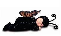 Кукла-бабочка 40 см с открытыми глазками Anne Geddes  (526591-AG)