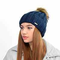 Женская шапка veilo 3301 синий, фото 1
