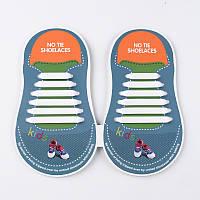 Силиконовые шнурки для детей Yuanfeng XD-204 6+6 белые