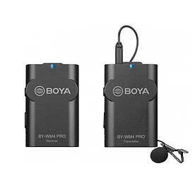 Петличний мікрофон BOYA BY-WM 4 PRO бездротовий двоканальний (4968-13631)