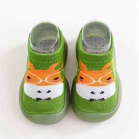 Мягкие тапочки-носки на силиконовой подошве для детей