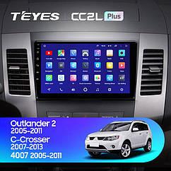 Штатная магнитола Teyes Mitsubishi Outlander 2 Peugeot 4007(2005-2012) Android