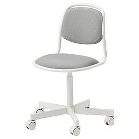 IKEA ÖRFJÄLL  Детский стул рабочий, белый / Vissle светло-серый (105.018.84)