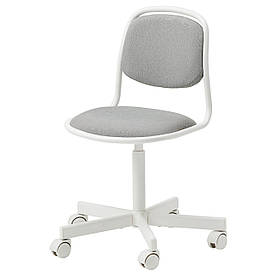 IKEA ÖRFJÄLL Дитячий стілець робочий, білий / Vissle світло-сірий (105.018.84)