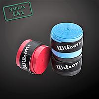 Обмотка ракетки для настольного тенниса WILSONНамотка на ракетку Набор 3 штКрасный Черный Голубой (W110)