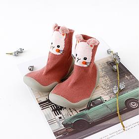 Тапочки носки на резиновой подошве с хлопковой стелькой