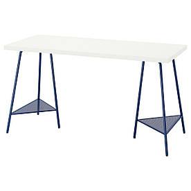 IKEA LAGKAPTEN / TILLSLAG Письмовий стіл, білий / темно-синій (894.171.99)