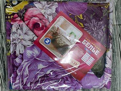 Двуспальное цветочное постельное бельё
