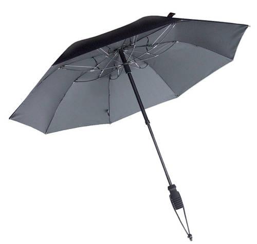 Качественный механический зонт-трость с большим куполом EuroSCHIRM teleScope 1016-TBL/SU18185 черный