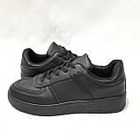 36,39 р Жіночі кросівки, кеди весняні з еко-шкіри в стилі Nike Air force Чорні, фото 6