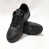 36,39 р Жіночі кросівки, кеди весняні з еко-шкіри в стилі Nike Air force Чорні, фото 2
