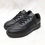 36,39 р Жіночі кросівки, кеди весняні з еко-шкіри в стилі Nike Air force Чорні, фото 3