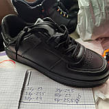 36,39 р Жіночі кросівки, кеди весняні з еко-шкіри в стилі Nike Air force Чорні, фото 9