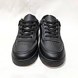 36,39 р Жіночі кросівки, кеди весняні з еко-шкіри в стилі Nike Air force Чорні, фото 4