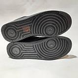 36,39 р Жіночі кросівки, кеди весняні з еко-шкіри в стилі Nike Air force Чорні, фото 7