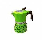Гейзерная кофеварка GAT COFFEE SHOW салатовая на 6 чашек (104606 салат)