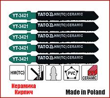 Набор пилочек по керамике для электролобзика Yato YT-3421