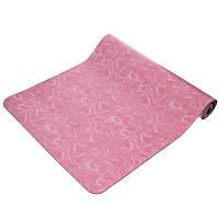 Коврик для йоги и фитнеса 5мм розовый FI-0566