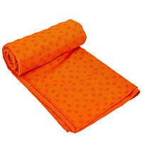 Полотенце для йоги (коврик для йоги) SP-Planeta FI-4938, Фиолетовый Оранжевый