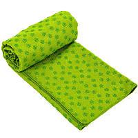 Полотенце для йоги (коврик для йоги) SP-Planeta FI-4938, Фиолетовый Зелёный