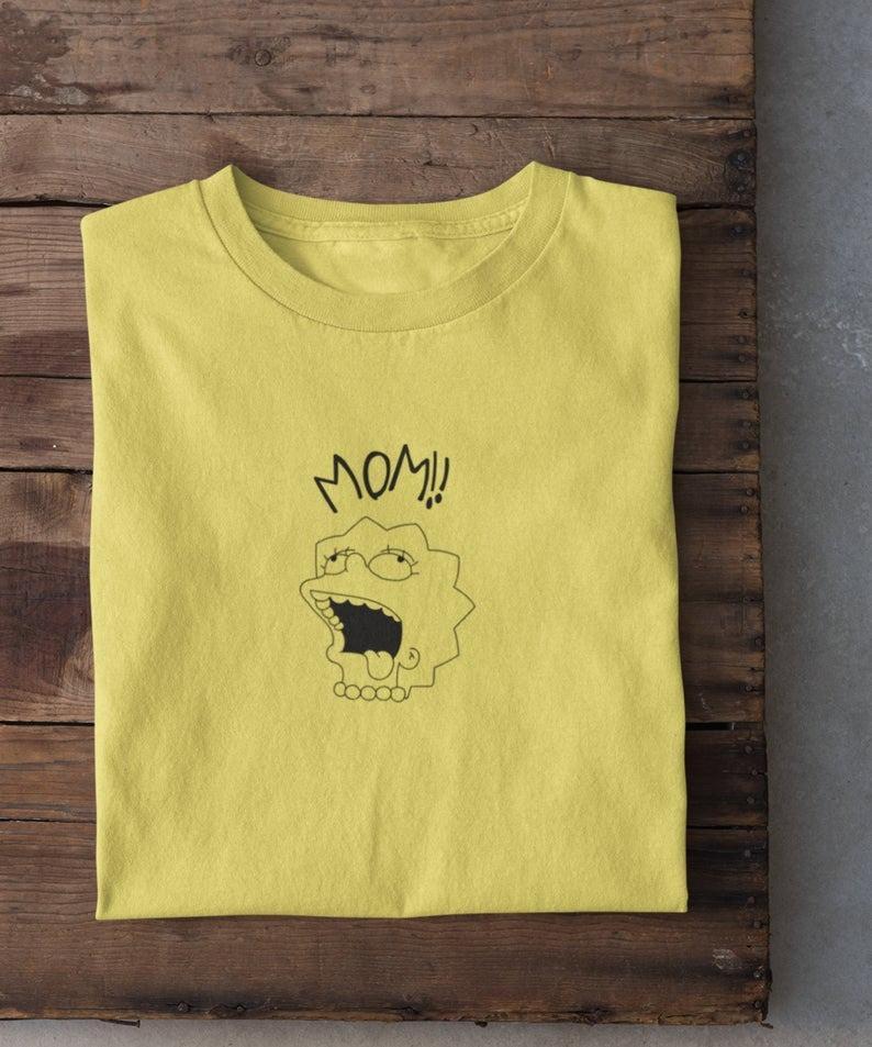 Футболка Lil Peep MOM желтая унисекс