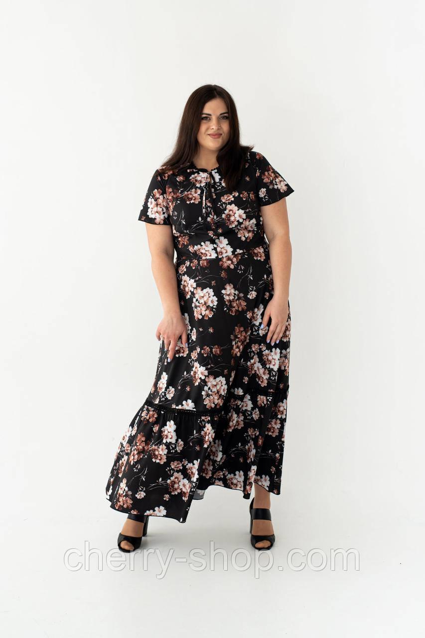 Інтригуюча літнє плаття чорного кольору