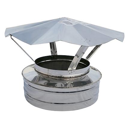 Грибок-термо ø250 мм из нержавеющей стали AISI 304 для дымохода вентиляции дымоходный Версия-Люкс, фото 2