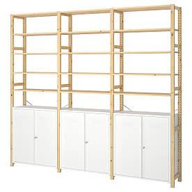 IKEA IVAR 3 секції / шафа / полки, сосна / білий (692.482.11)