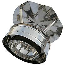 Грибок-термо ø220 мм из нержавеющей стали AISI 304 для дымохода вентиляции дымоходный Версия-Люкс, фото 3