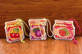 Набор (комплект) для вышивания Риолис Баночки с вареньем (1749АС)