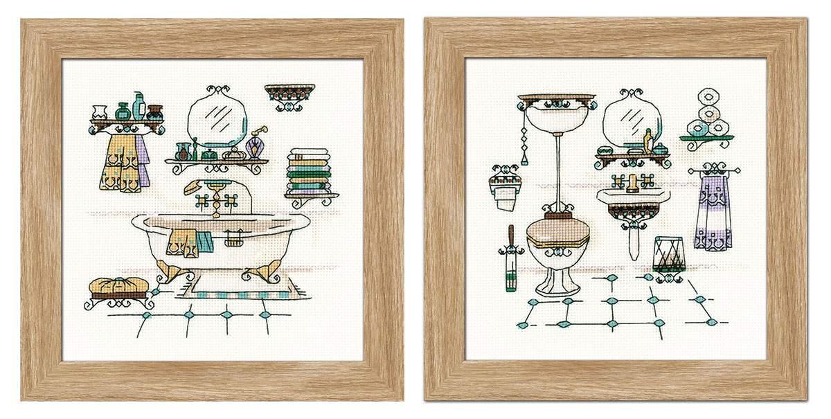 Набір (комплект) для вишивання Ріоліс Інтер'єр ванної кімнати (1737)