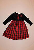 Платье детское с меховым болеро