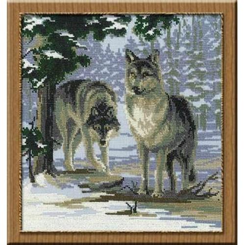 Набор для вышивания Риолис Волки (0271)