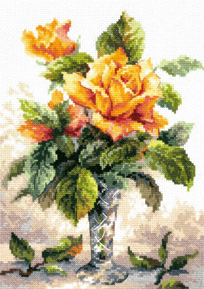 Набір для вишивання Чудова голка Жовті троянди (40-79)