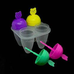 Формы для мороженого 4шт/наб 12см Мишка / Пластикова форма для морозива