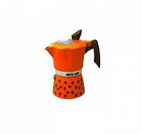 Гейзерна кавоварка GAT COFFEE SHOW помаранчева на 6 чашок (104606 помаранч)