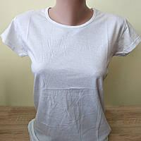 Белая футболка женская однотонная базовая стильная