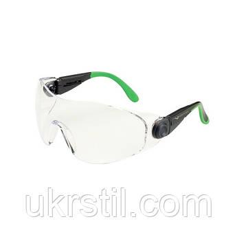Очки защитные незапотевающие черно-зеленые, 529 Univet