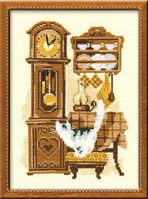 Набор для вышивания Риолис Кошка с часами (0858)