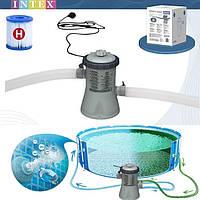 Фильтр-насос для очистки воды в бассейне Intex диаметром 244-305 см 1250 Л / Ч 28602 Фильтрующий насос