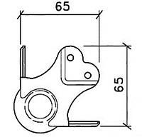 Кутова зв'язка C1339/30z кульова 67х67мм сталь 1,8 мм оцинкована. Штамп під профіль 31х31мм. Для профілю з