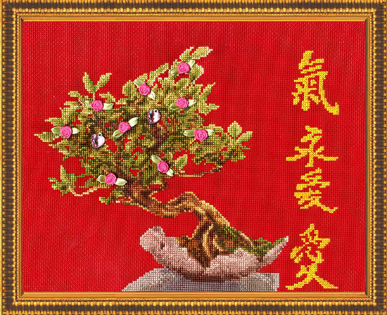 Набор для вышивания Золотое руно Дерево любви (МГ-011)