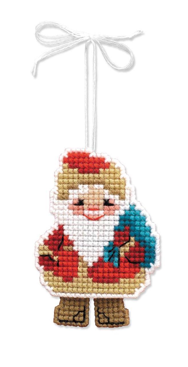 Набір для вишивання Ріоліс Новорічна іграшка Дідусь мороз (1538АС)