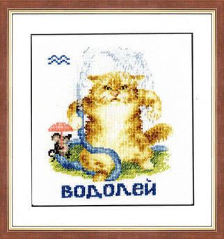 Набор для вышивания Золотое руно Знаки зодиака Водолей (ВЛ-011)