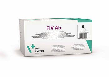 Экспресс-тест VetExpert FiV Ab антитела иммунодефицита котов, 2 шт