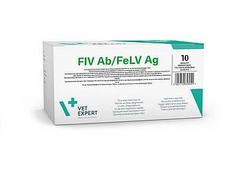 Экспресс-тест VetExpert FiV Ab/FeLV Ag антитела иммунодефицита и вируса лейкемии котов, 5 шт