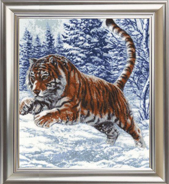Набор для вышивания Золотое руно Прыжок тигра (ДЖ-019)