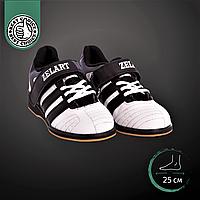 Штангетки-кросівки ZELART Для пауерліфтингу гирьового спорту важкої атлетики PU Чорний-білий (OB-4594) 39