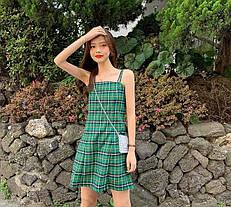 Стильний сарафан плаття в клітку, шотландка, фото 2